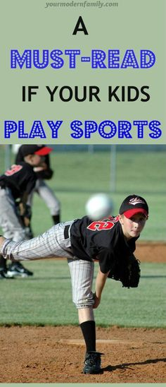 A must read about kids playing sports - Your Modern Family Gentle Parenting, Parenting Advice, Sports Mom, Baseball Mom, Baseball Snacks, Football Moms, Kids Writing, Raising Kids, Kids Learning