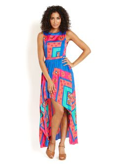 GRACIA High-Low Floral Maxi Dress... Another hot summer dress