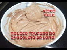 Mousse trufado de chocolate ao leite
