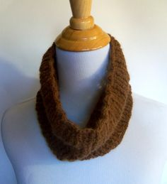 SALE - handknit alpaca lace cowl in sepia - handknit soft and lightweight neckwarmer made from natural locally sourced fibers - $27.50 at kateydid handmade