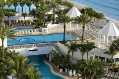 This doubledecker pool is quite rare. You'll find it at the Westin Diplomat in Hollywood, FL - near Ft. Lauderdale. We love it there - amazing resort. #travel #luxury