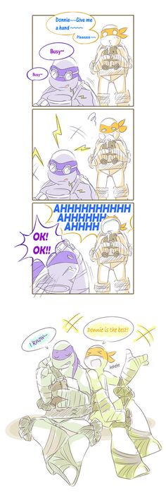 """Donnie is the best! by owiyalight on deviantART """"Donnie is the best!"""" """"I know..."""""""