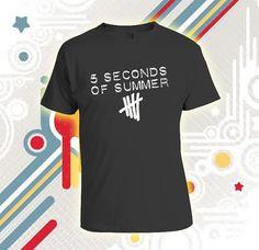 5sos shirt 5 second of summer galaxy logo  Custom by Sendikodawuhh, $16.99