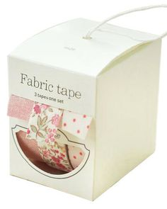 "How adorable is this? Problem is... I might just go around ""fixing"" things that aren't broken. Fabric Tape @etsy"