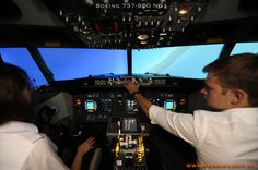 unser Boeing Simulator in Flight