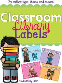 {Colorful Pastel} Classroom Library Labels