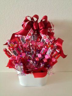 You Make My Heart BURST Valentine Gift Basket www.OhBowsGiftBaskets.com