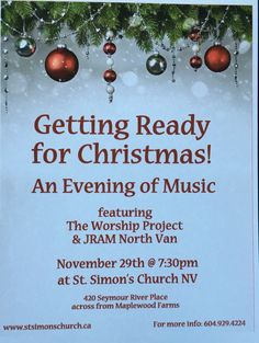 Please join us this Sunday night 7:30pm for a pre-Christmas concert