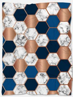 Provide warmth and comfort with this Hexagon Marble Throw Blanket. With its incredible design and vibrant colors, it will make your home even more beautiful. It is handmade just for you and has a unique design that can't be found anywhere else. Polar Fleece Blankets, Vibrant Colors, Marble, The Incredibles, Make It Yourself, Abstract, Unique, Fabric, Handmade
