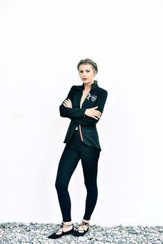 Jacke Jersey schwarz - Mirabell Plummer Punk, Style, Fashion, Jackets, Black, Woman, Moda, Stylus, Fasion