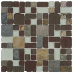 Merola Tile Tessera Versailles Huron 11-3/4 in. x 11-3/4 in. x 8 mm Glass and Stone Mosaic Wall Tile-GSDTVSHU - The Home Depot