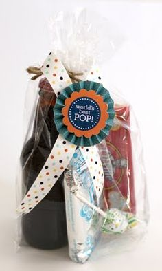 WOW - what a FAB idea for a father's day gift!! popcorn, lollipops, pop (drinks), that popping candy stuff, YAY!! 50 Best Fathers Day Gift Ideas and Free Printables