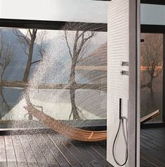Shower wall from Fantini.
