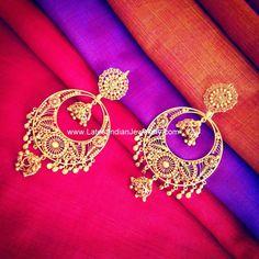 Pure gold chand bali earrings