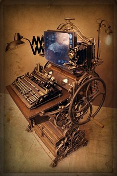 design: A thorough examination - Machine Age to Steampunk A look into Industrial Design.A look into Industrial Design. Chat Steampunk, Design Steampunk, Mode Steampunk, Style Steampunk, Steampunk Gadgets, Steampunk Fashion, Gothic Steampunk, Steampunk Clothing, Steampunk House