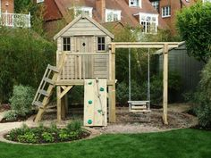 cabane de jardin pour enfant, design sympathique, espace de jeux