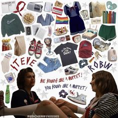 Stranger Things Steve, Stranger Things Funny, Stranger Things Netflix, Cozy Aesthetic, Aesthetic Fashion, Aesthetic Clothes, 80s Inspired Outfits, First Day Of School Outfit, Word Collage
