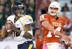 Fox Sports Top 10 College Football Games - #1 game for week 6. . . No. 8 WVU at No. 11 Texas. . . Let's Go Mountaineers!!!