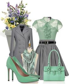 Love the mint & gray...