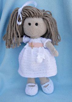 muñeca comunion amigurumi