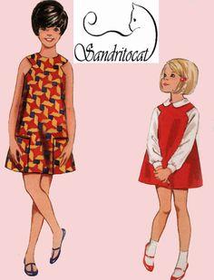 1960s Butterick 4467 Girls MOD Jumper or Dress by sandritocat, $10.00