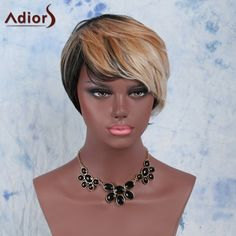 Short Fluffy Wavy Side Bang Multi Heat Resistant Fiber Wig #>=#>=#>=#>=#> Click on the pin to check out discount price, color, size, shipping, etc. Save and like it!