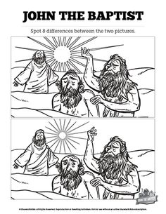 John The Baptist Kids Spot Difference These Two Bible Illustrations Of