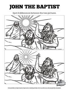 John The Baptist Bible Mazes: When John the Baptist saw