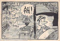 RONALD REAGAN ASLEEP IN BED ORIGINAL NEWSPAPER COMIC ART SIGNED INK SKETCH