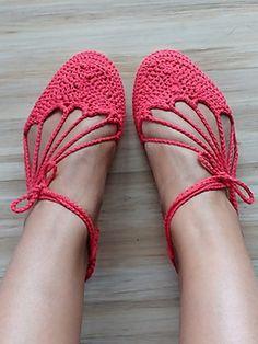 Sunburst Espadrilles - free crochet pattern by Majesta Kwakkel.