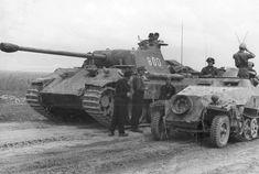 German SS-Panzer-Division Wiking Panther tank Sd.Kfz. 251 photo Poland 1944 | eBay