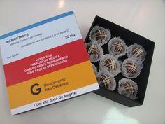 Caixa de bombons para festa de formatura de farmácia