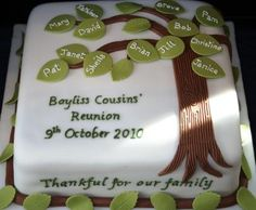 haha if we had a cousin reunion the whole cake would be full of green leaves. Golf Cakes & Party birthday (This is an affiliate link) You could learn even more information at the web link of the image. Family Reunion Cakes, Family Tree Cakes, Family Reunions, Golf Ball Cake, Golf Cakes, Adoption Cake, Sports Themed Cakes, Realistic Cakes, Dad Cake
