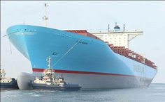 Emma Maersk is a container vessel which is more commonly known in the maritime fraternity as the biggest cargo ship in the world. A part of the E class fleet of the company, Emma Maersk is one of the best creation that the maritime world has seen. Merchant Navy, Merchant Marine, Jet Ski, Maersk Line, Freight Transport, Great Lakes Ships, Marine Engineering, Naval, Tug Boats