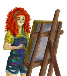I wanted to draw some ginger girl with curly hair, then I drew her 'cause it's been ages since I did something about percy jackson. (I also did a livest. Rachel E. Percy Jackson Fandom, Percy Jackson Y Annabeth Chase, Percy Jackson Books, Rachel Elizabeth Dare, Magnus Chase, Ex Libris, Jason Grace, Trials Of Apollo, Leo Valdez