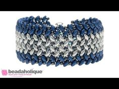 Videos: How to Stitch Herringbone with Two Hole Beads   Beadaholique