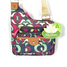Lily Bloom Karma Body Bag Purse Brown Green Pattern Eco Friendly Eco Friendly #LilyBloom #MessengerCrossBody