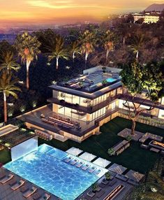 42 Ideas For House Luxury Mansions Los Angeles Mansion Homes, Dream Mansion, Apartment Interior Design, Best Interior Design, Dream Home Design, Modern House Design, Luxury Homes Dream Houses, Dream Homes, Modern Mansion