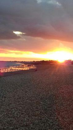 Aldwick Beach, Bognor Regis, at Sunset Bognor Regis, Sky, Celestial, Sunset, Beach, Outdoor, Beautiful, Heaven, Outdoors