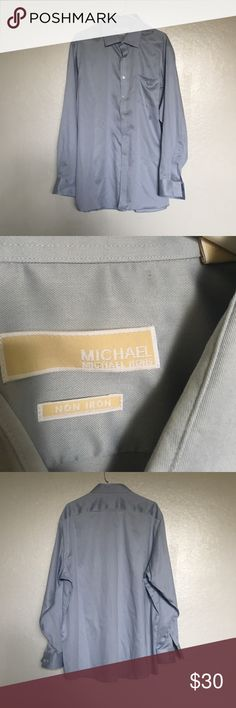 Michael Kors button up Michael Kors. Button up. Only been worn once. Still in perfect condition.  18 around the neck. 34/35 for the sleeve. Michael Kors Shirts Dress Shirts