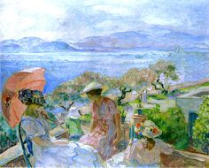 On the Terrace at the Sea in St. Maxime - Henri Lebasque