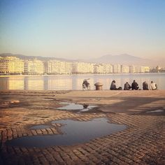 The port is the best place to get a great view of the city, especially during sunset. Walking Thessaloniki app, Route 01 - Port (Download for FREE) Commercial Street, Thessaloniki, Great View, Uber, Monument Valley, The Good Place, Greece, Walking, App