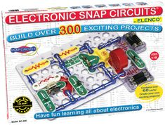 Snap Circuits® makes learning electronics easy and fun! Just follow the colorful pictures in our manual and build exciting projects such as AM radios, burglar alarms, doorbell,s and much more! You can even play electronic games with your