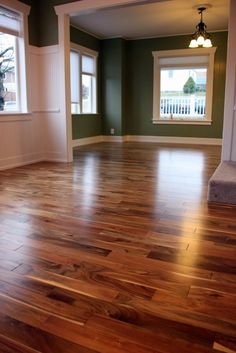 hardwood floors, love the color, with that green