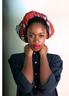 head scarf by  Charlotte Linton • a stylish little lady