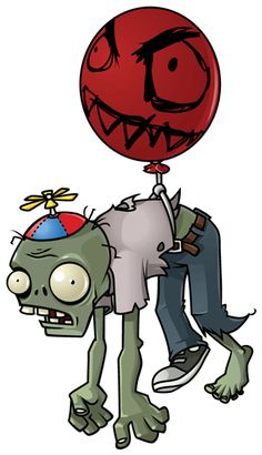 Halloween Costume How-To: Balloon Zombie Zombies Vs, Plants Vs Zombies 2, Zombie Kunst, Zombie Art, Zombie Cartoon, Zombie Disney, Red Balloon, Balloons, Ideas Party