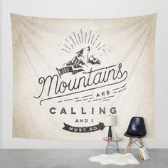 Mountains Wall Tapestry by Seaside Spirit | Society6