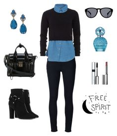 """Untitled #637"" by gallant81 ❤ liked on Polyvore featuring Frame Denim, Patrizia Pepe, Giuseppe Zanotti, 3.1 Phillip Lim, INC International Concepts, By Terry, Clinique and Marc Jacobs"