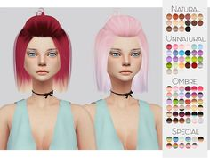 The Sims Resource: LeahLillith`s Radiance hair retextured by kalewa  - Sims 4 Hairs - http://sims4hairs.com/the-sims-resource-leahlilliths-radiance-hair-retextured-by-kalewa/