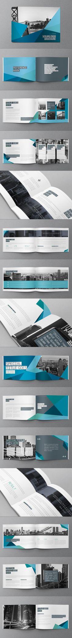 Blue Modern Brochure. Download here: http://graphicriver.net/item/blue-modern-brochure/8852088?ref=abradesign #brochure #design: